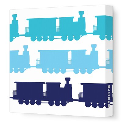 Avalisa Things That Go Trains Stretched Canvas Art
