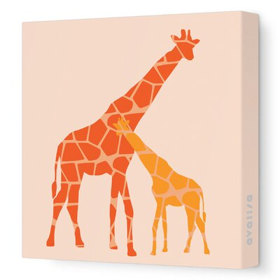 Avalisa Animals Reticulated Giraffe Stretched Canvas Art