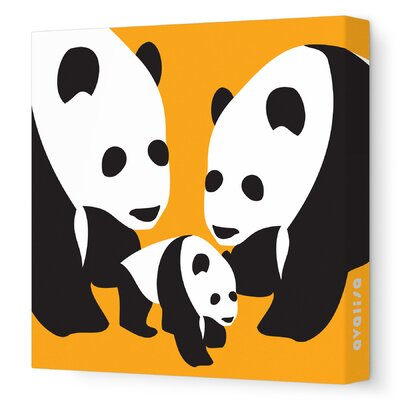 Avalisa Animals Three Pandas Stretched Canvas Art