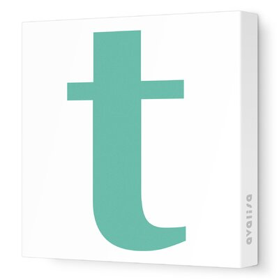 Avalisa Letters Lower Case 't' Stretched Canvas Art
