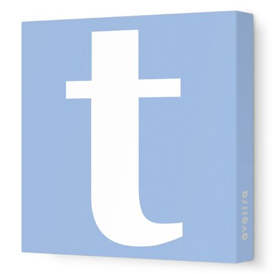 Avalisa Letter - Lower Case 't' Stretched Wall Art