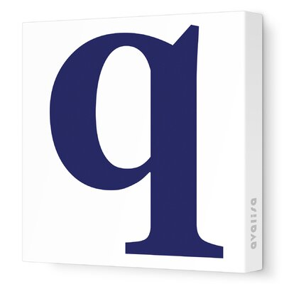 Avalisa Letters Lower Case 'q' Stretched Canvas Art