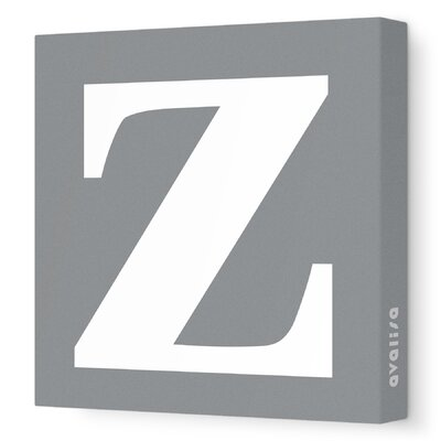 Avalisa Letter - Lower Case 'z' Stretched Wall Art