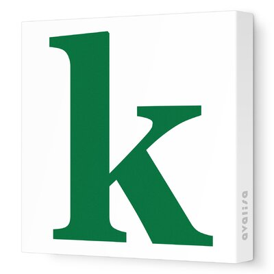 Avalisa Letter - Lower Case 'k' Stretched Wall Art