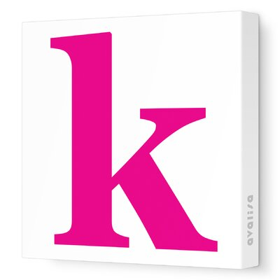 Avalisa Letters Lower Case 'k' Stretched Canvas Art