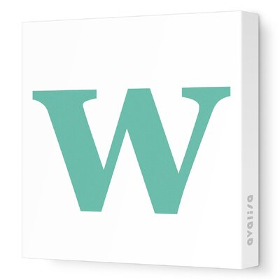 Avalisa Letter - Lower Case 'w' Stretched Wall Art