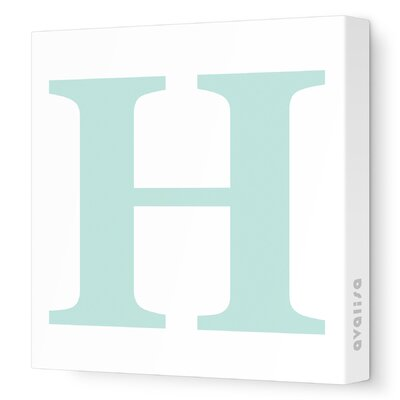 Avalisa Letter - Upper Case 'H' Stretched Wall Art