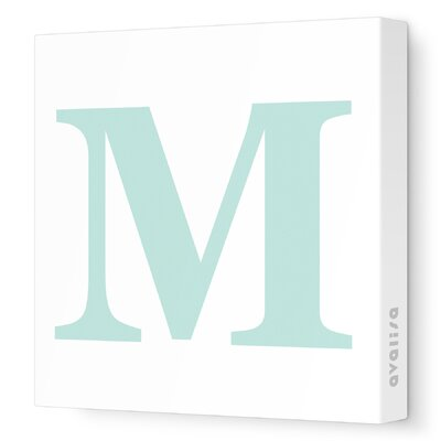 Avalisa Letter - Upper Case 'M' Stretched Wall Art