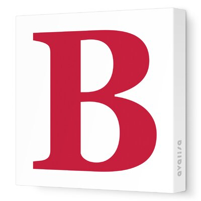 Avalisa Letters Upper Case 'B' Stretched Canvas Art