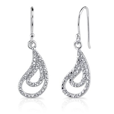 Captivating Style: Sterling Silver Celebrity Style Open-work Paisley Motif Fish-hook Earrings ...