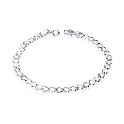 High Quality Curb Link Bracelet Sterling Silver
