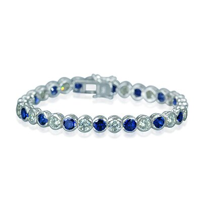 Oravo Must Have Round Cut Tennis Bracelet in Sterling Silver