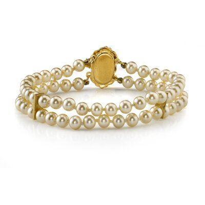 Oravo Double Strand 5mm Off White Color Round Majorca Pearl Bracelet