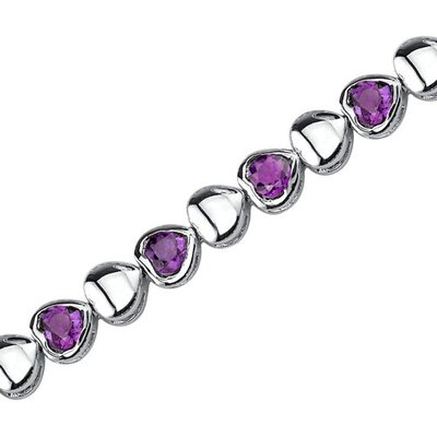 Lovely Fantasy Round Shaped Gemstone Bracelet in Sterling Silver
