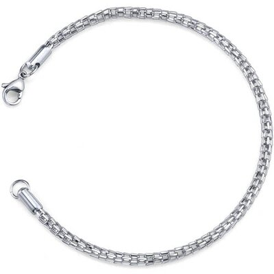 Contemporary Statement Unisex Stainless Steel Fancy Fox-Tail Style Chain Bracelet