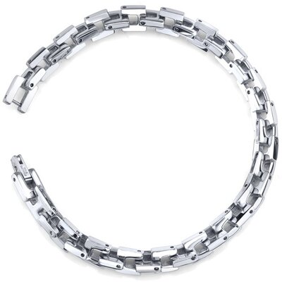 Positively Manly Mens Stainless Steel 3D Link Chain Bracelet