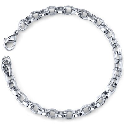 Effortless Flair Mens Stainless Steel Belcher Link Bracelet