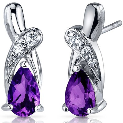 Graceful Glamour 1.50 Carats Gemstone Pear Shape Cubic Zirconia Earrings in Sterling Silver