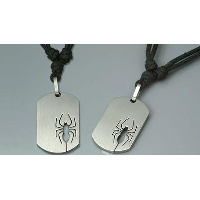 Surgical Steel Dog Tag Pendant with Adjustable Cord for Young Adults