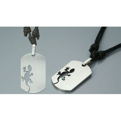 Oravo Surgical Steel Dog Tag Pendant with Adjustable Cord for Young Adults