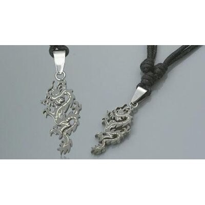 Surgical Steel Dragon Pendant with Adjustable Cord for Young Adults