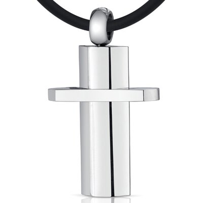 Oravo Simple Attraction Unisex Stainless Steel Modern Cross Pendant Necklace