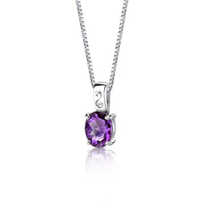 Oravo Spring Dream 2.25 Carats Oval Shape Checkerboard Cut Amethyst Pendant in Sterling Silver