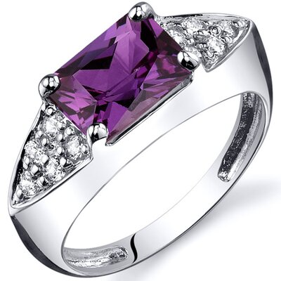 Sleek Sophistication 2.00 Carats CZ Ring in Sterling Silver