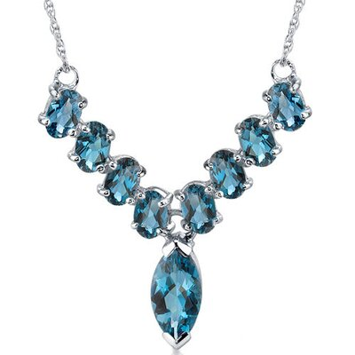 Bold and Beautiful 6.25 Carats Marquise and Oval Shape London Blue Topaz Multi-Gemstone ...