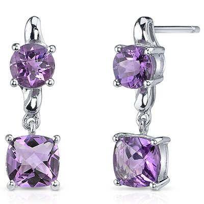 Cushion Cut Gemstone Earrings