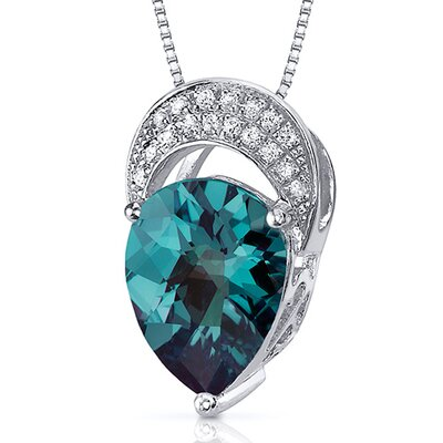 Elegant Tear Drop Gemstone Pendant