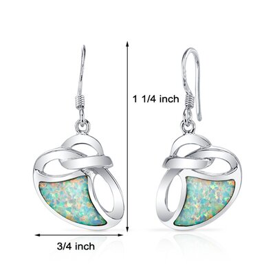 Oravo Opal Artistic Knot Dangle Earrings