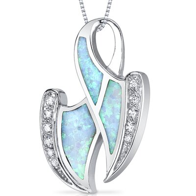 Oravo Opal Abstract Waves Powder Pendant