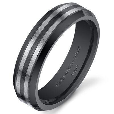 Stainless Steel Ceramic Wedding Band
