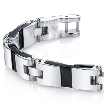 Oravo Men's Smooth Class Mirror Finish Stainless Steel Bracelet
