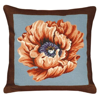 Poppy Needlepoint Pillow