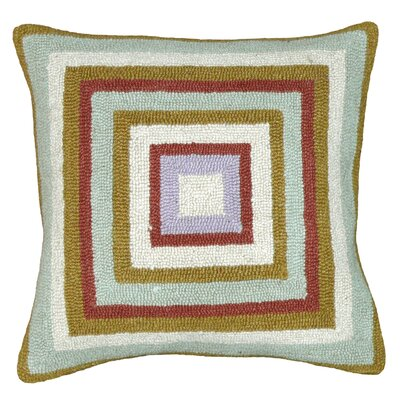 123 Creations Squares 100% Wool Hook Pillow