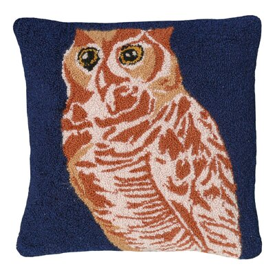 Owl 100% Wool Hook Pillow