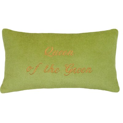 Queen of the Green Cashmere Blend Pillow