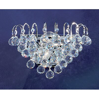 Classic Lighting Diamante 2 Light Wall Sconce