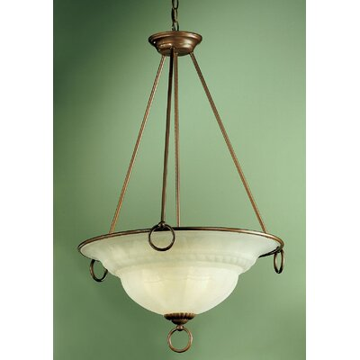 Classic Lighting Livorno 3 Light Inverted Pendant