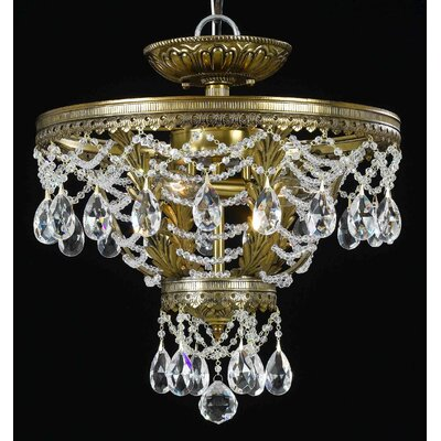 Classic Lighting Contessa 3 Light Semi-Flush Mount
