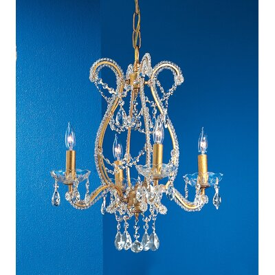 Classic Lighting Aurora 4 Light Chandelier