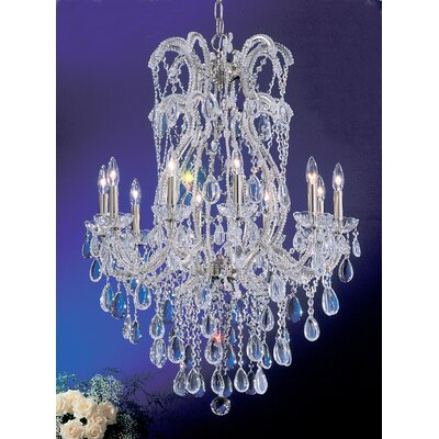 Classic Lighting Tivoli 10 Light Chandelier