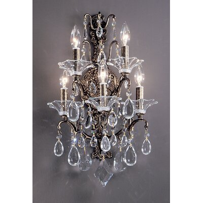 Classic Lighting Garden of Versailles 5 Light Wall Sconce
