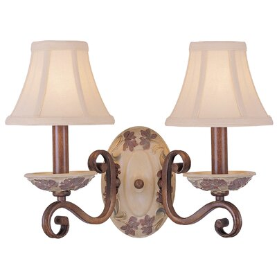 Classic Lighting Tapestry 2 Light Wall Sconce