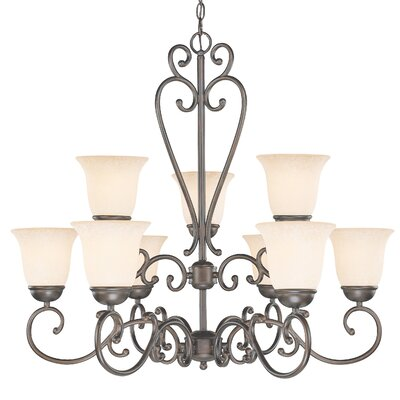 Classic Lighting Cape Cod 9 Light Chandelier