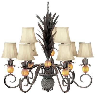 Classic Lighting Pineapple 9 Light Chandelier