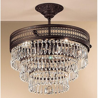 Classic Lighting Renaissance 3 Light Semi-Flush Mount