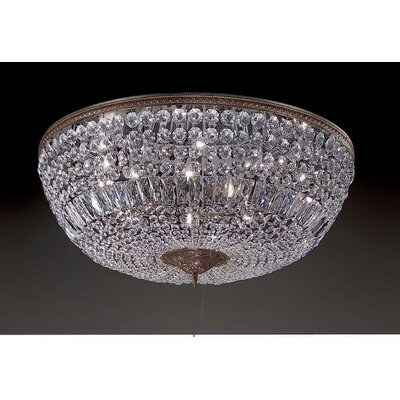 Classic Lighting Crystal Baskets 10 Light Semi-Flush Mount